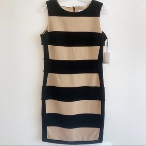 NWT CALVIN KLEIN Striped Sleeveless Dress SZ 10